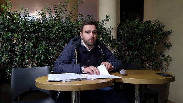 Nicolò Trisciuzzi in conferenza stampa.